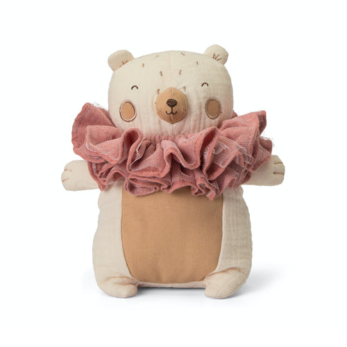 Picca LouLou The Bear & his Raggedy Ruff | Imaginative Play Toy | Soft Toy Made From Cotton | Front View | BeoVERDE.ie
