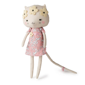 Picca LouLou Kitty Cat | Imaginative Play Toy | Soft Toy Made From Cotton | Standing - Front | BeoVERDE.ie