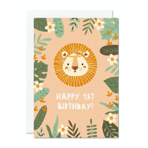 Ricicle Cards 1st Birthday Kids Greeting Card | Kids Birthday Card with Envelope | Front View | BeoVERDE.ie