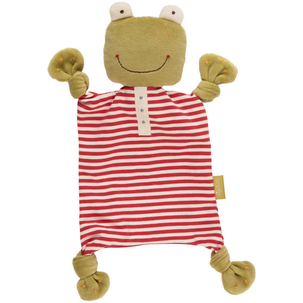 Sigikid Organic Frog Comforter | Baby's First Toy | Front View | BeoVERDE.ie