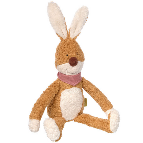 Sigikid Organic Rabbit Plush Toy | Baby's First Soft Toy | Front View | BeoVERDE.ie