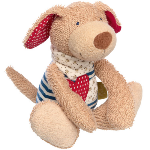 Sigikid Organic Dog Plush Toy | Baby's First Toy | Front View | BeoVERDE.ie