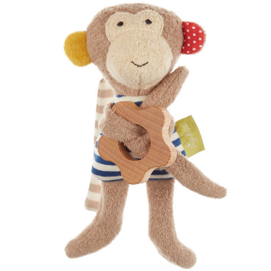 Sigikid Organic Monkey Rattle and Teether | Front | BeoVERDE.ie