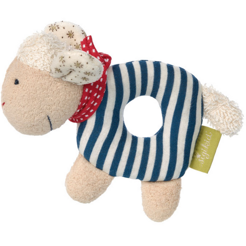 Sigikid Organic Sheep Soft Ring Rattle | Front View | BeoVERDE.ie