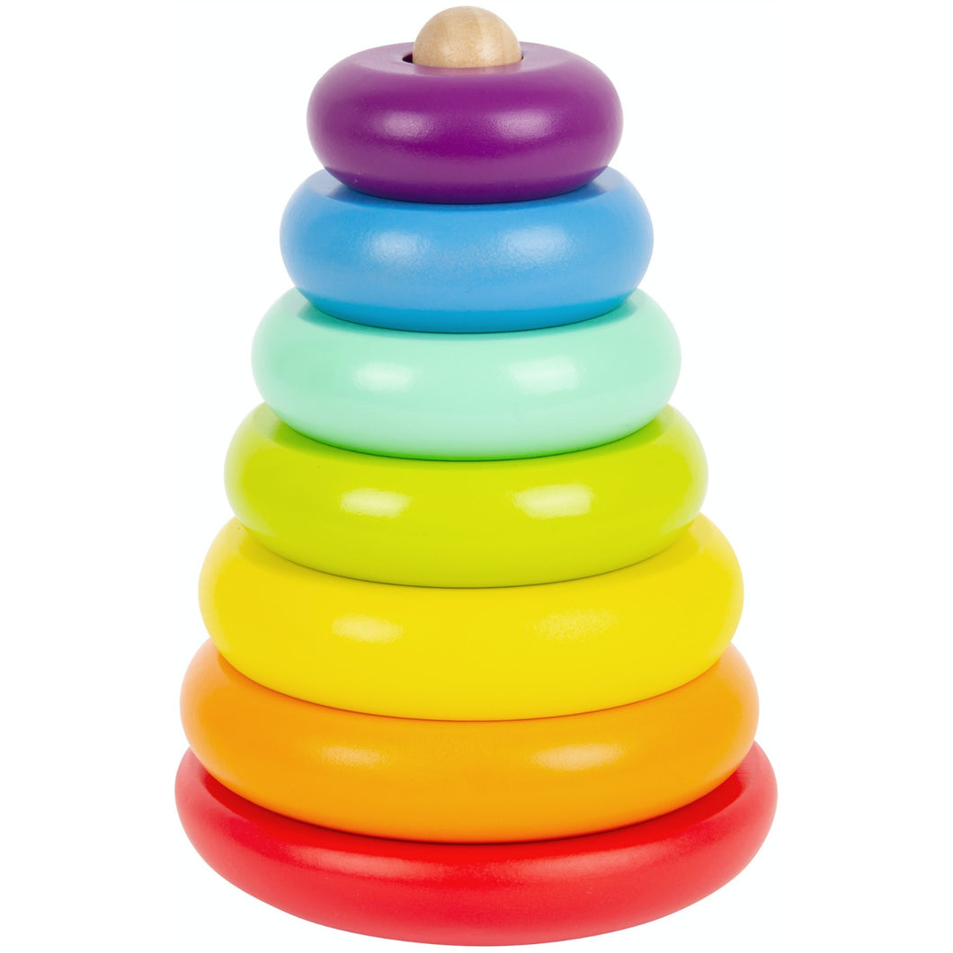 Small Foot Wooden Rainbow Stacker | Baby & Toddler Activity Toy | Front View | BeoVERDE.ie