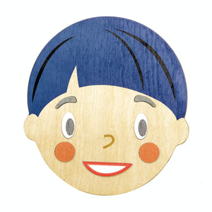 Tender Leaf Toys What's Up? | Wooden Educational Toy | Magnetic Wooden Toy | Front View – Face Smiling | BeoVERDE.ie