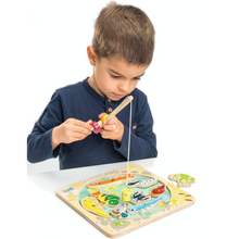 Load image into Gallery viewer, Tender Leaf Wooden Pond Dipping | Hand-Crafted Wooden Educational Toy | Boy Playing | BeoVERDE.ie