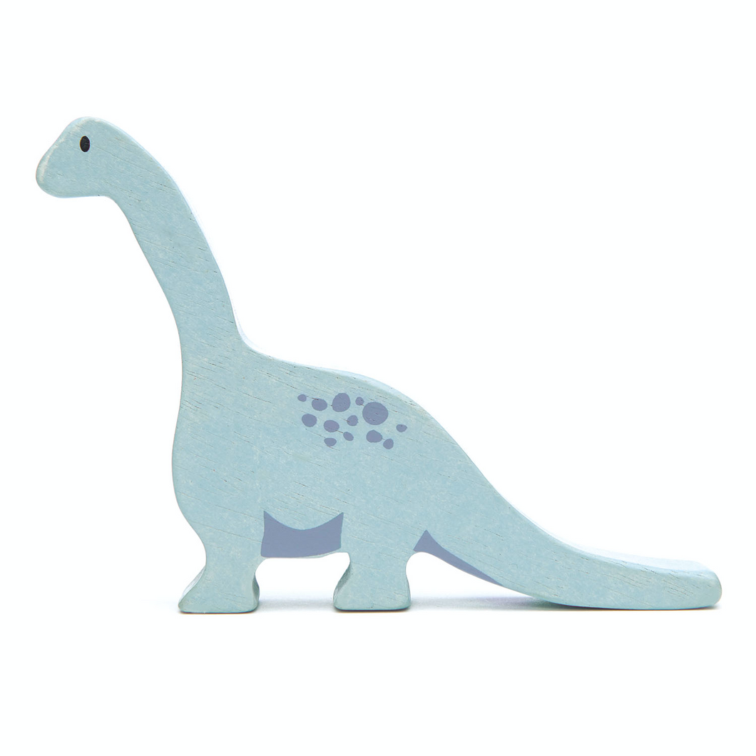Tender Leaf Brontosaurus | Hand-Crafted Wooden Animal Toy | BeoVERDE.ie