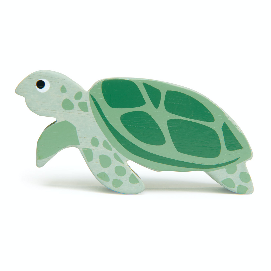 Tender Leaf Coastal Sea Turtle | Hand-Crafted Wooden Animal Toy | BeoVERDE.ie