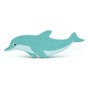 Tender Leaf Coastal Dolphin | Hand-Crafted Wooden Animal Toy | BeoVERDE.ie