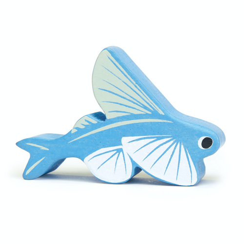 Tender Leaf Coastal Flying Fish | Hand-Crafted Wooden Animal Toy | BeoVERDE.ie
