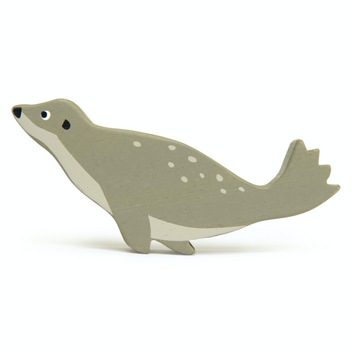 Tender Leaf Coastal Seal | Hand-Crafted Wooden Animal Toy | BeoVERDE.ie