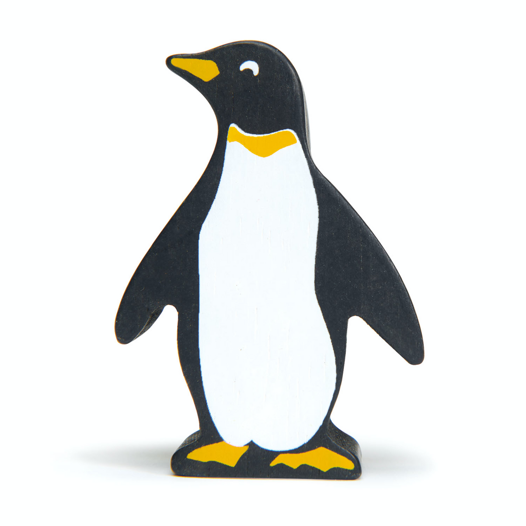 Tender Leaf Penguin | Hand-Crafted Wooden Animal Toy | BeoVERDE.ie