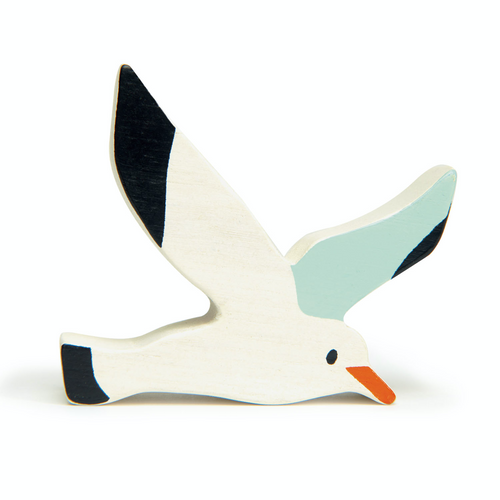 Tender Leaf Seagull | Hand-Crafted Wooden Animal Toy | BeoVERDE.ie