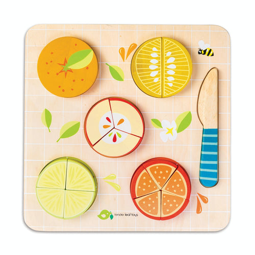 Citrus Fractions | Hand-Crafted Wooden Educational Toy | Front View | Tender Leaf Toys| BeoVERDE.ie