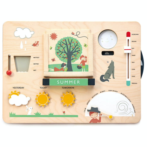 Weather Watch | Hand-Crafted Wooden Educational Toy | Front View | Tender Leaf Toys| BeoVERDE.ie