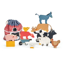 Load image into Gallery viewer, TenderLeaf Stacking Farmyard Front View | Hand-Crafted Wooden Animal Toys | BeoVERDE.ie