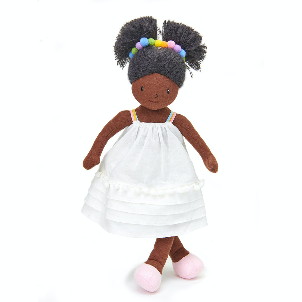 ThreadBear Design Esme Rainbow Rag Doll | Hand-Crafted Rag Doll | Soft Cotton Children's Doll | Front View – Rag Doll Marty Standing | BeoVERDE.ie