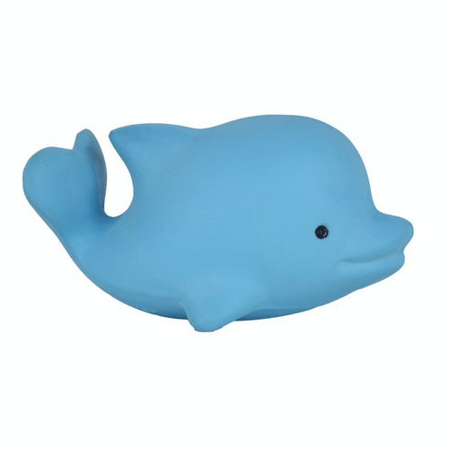 TIKIRI Natural Rubber Rattle & Bath Toy 'Dolphin' | Right View | BeoVERDE.ie