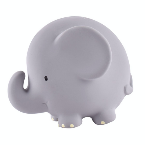 TIKIRI Natural Rubber Rattle & Bath Toy 'Elephant' | Left View | BeoVERDE.ie