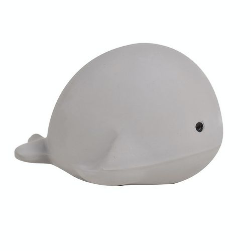 TIKIRI Natural Rubber Rattle & Bath Toy 'Whale' | BeoVERDE.ie
