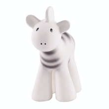 Load image into Gallery viewer, Zebra | Natural Rubber Rattle & Bath Toy | Safari Collection