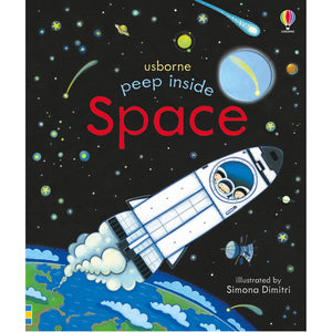 Peep Inside Space | Children's Book on Space & Aeronautics | Usborne | Book Cover | BeoVERDE.ie