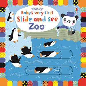 Baby's Very First Slide and See Zoo | Interactive Board Book for Babies and Toddlers | Usborne | Book Cover | BeoVERDE.ie