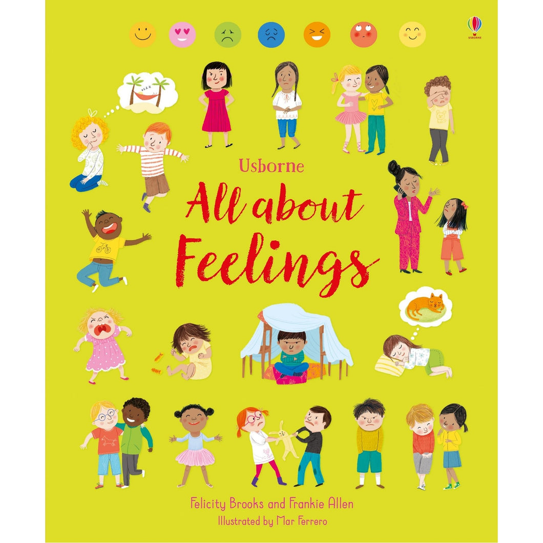 All About Feelings | Children's Book on Feelings and Emotions | Usborne | Book Cover | BeoVERDE.ie