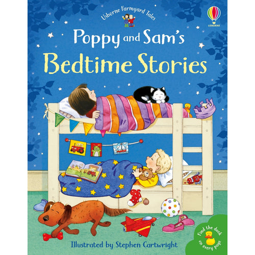 Poppy And Sam's Bedtime Stories | Children's Book on Farm Animals | Usborne | Book Cover | BeoVERDE.ie