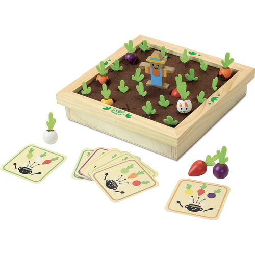 Vilac Vegetable Garden Memory Game | Hand-Crafted Wooden Toy | Wooden Games & Puzzles | Wooden Educational Toy | Front View | BeoVERDE.ie