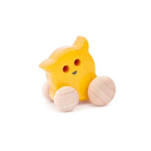 Bajo Eye Ghost | Wooden Push-Along | Yellow | BeoVERDE.ie