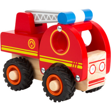 Load image into Gallery viewer, Small Foot Wooden Fire Engine | Side View | BeoVERDE.ie