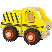 Load image into Gallery viewer, Small Foot Wooden Construction Site Vehicle | Front Side View Right | BeoVERDE.ie