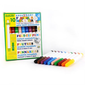 okoNORM Easy Baby Felt-Tip Pens | Vegan, Water-Based Inks & Eco-Friendly | 10 Colours | BeoVERDE.ie