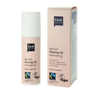FAIR SQUARED Apricot Shaving Oil Women 15ml | Fairtrade Vegan Natural Halal | BeoVERDE.ie