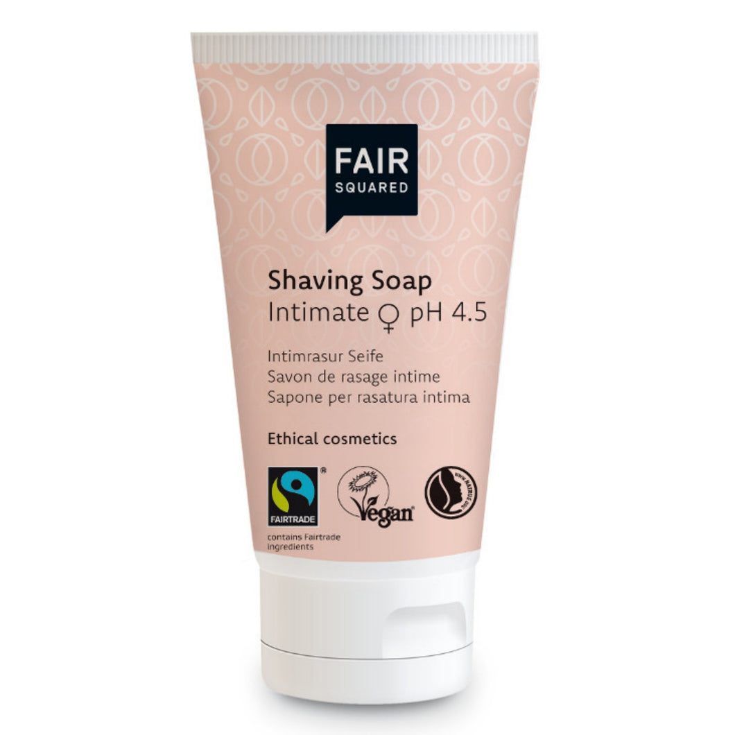 FAIR SQUARED Apricot Intimate Shaving Soap 50ml | Fairtrade Vegan Natural Halal | BeoVERDE.ie