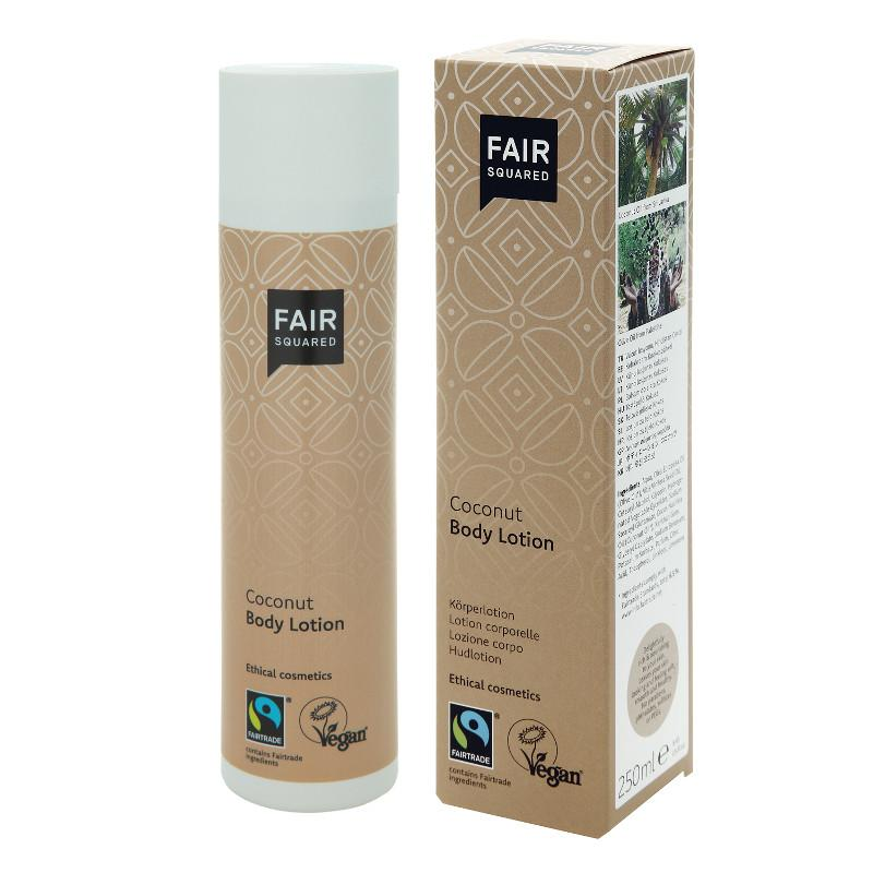 FAIR SQUARED Coconut Body Lotion | Fairtrade Vegan Natural Halal | BeoVERDE.ie