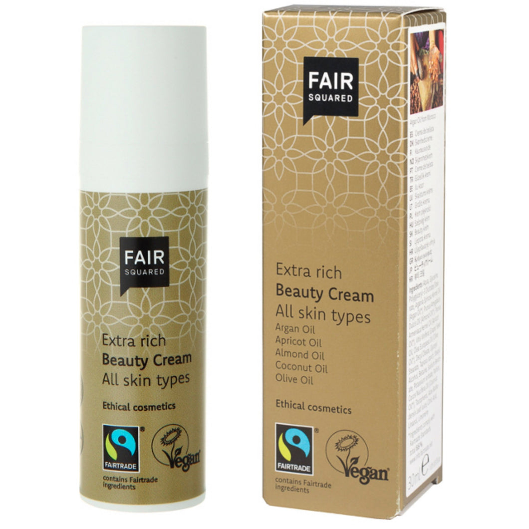 FAIR SQUARED Extra Rich Beauty Cream | Fairtrade Vegan Natural Halal | BeoVERDE.ie