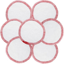Load image into Gallery viewer, FAIR SQUARED Cosmetic Pads | Reusable Fairtrade Organic Cotton Zero Waste Makeup Remover Pads | 7 Pads Closeup | BeoVERDE.ie