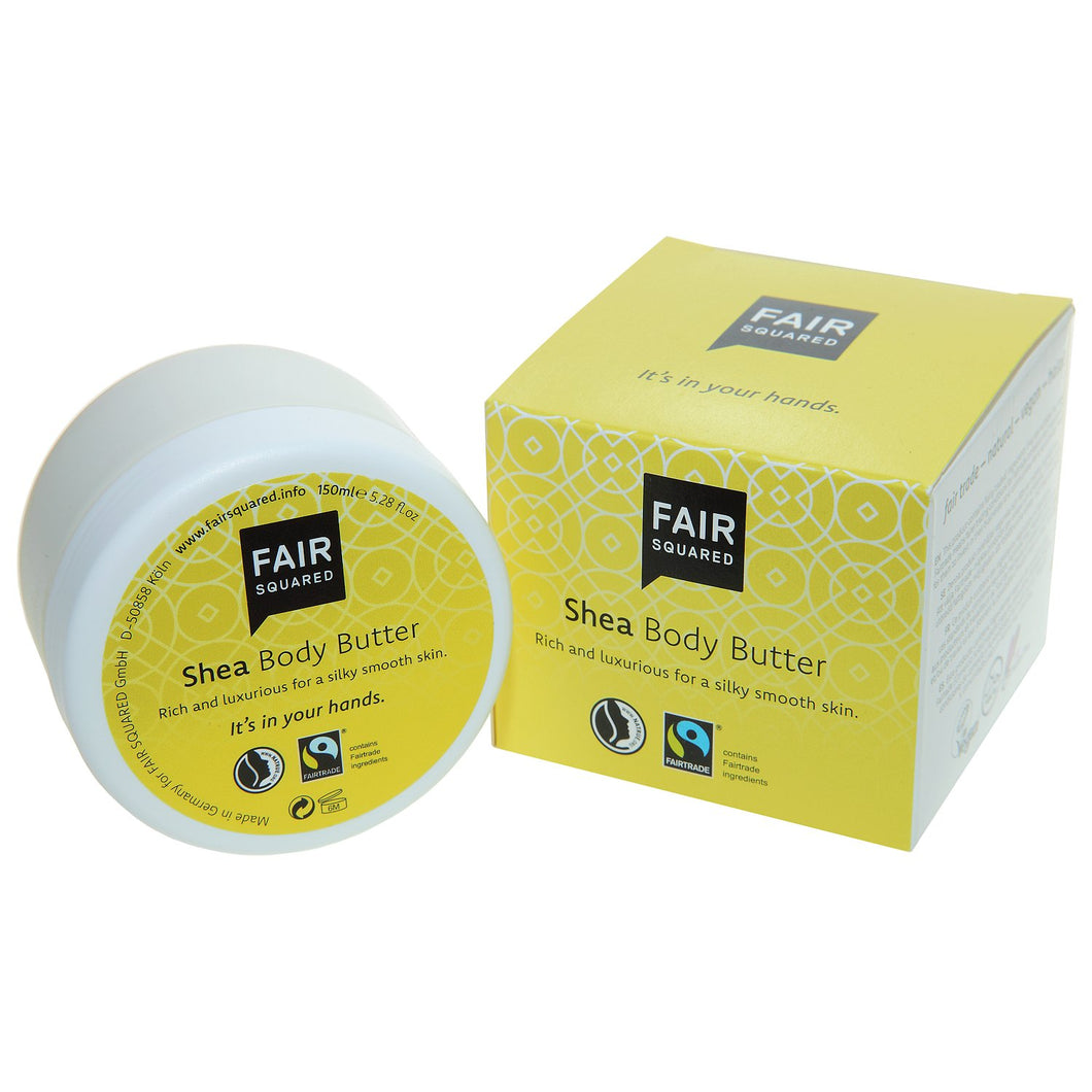 FAIR SQUARED Shea Body Butter | Fairtrade Vegan Natural Halal | BeoVERDE.ie