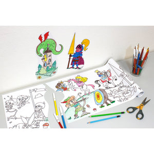 Self-Stick Colouring Book & Roll | Fairyland Adventures | Coloured Cut-outs Stuck to Wall | BeoVERDE.ie