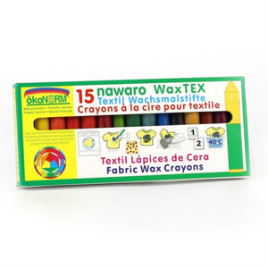 Non-Toxic Natural Textile Wax Crayons | 15 Vibrant Colours | Box | BeoVERDE.ie