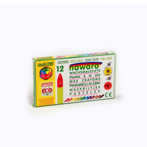Child-Safe Natural Wax Crayons | 12 Vibrant Colours | Box | BeoVERDE.ie