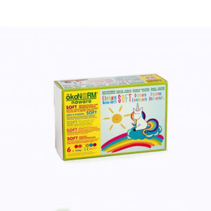 Child-Safe Natural Modelling Clay | 6 Vibrant Colours | Box Closeup | BeoVERDE.ie