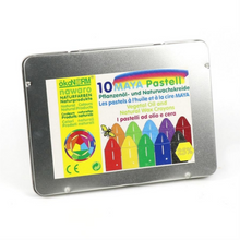 Load image into Gallery viewer, Non-Toxic Natural Oil Pastels | 10 Vibrant Colours | Metal Case | BeoVERDE.ie