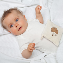 Load image into Gallery viewer, Warming Pillow for Babies | Owl | Organic Flax Seeds and Organic Cotton | Baby with Warming Pillow | BeoVERDE.ie