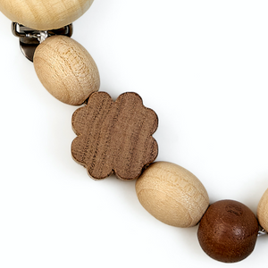 Cloverleaf | Natural Wooden Dummy Clip | Bright Natural Wood & Walnut | Made in Germany