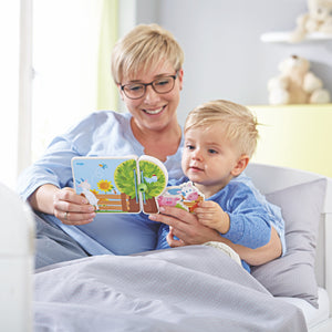 Farm Friends | Wooden Baby Book | Baby's First Book Toy | HABA | Lifestyle: Baby Reading Wooden Book | BeoVERDE.ie