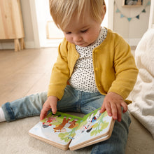 Load image into Gallery viewer, The Stables | Wooden Baby Book | Baby's First Book Toy | HABA | Lifestyle: Baby Reading Wooden Book | BeoVERDE.ie